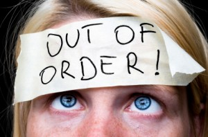 out of order woman